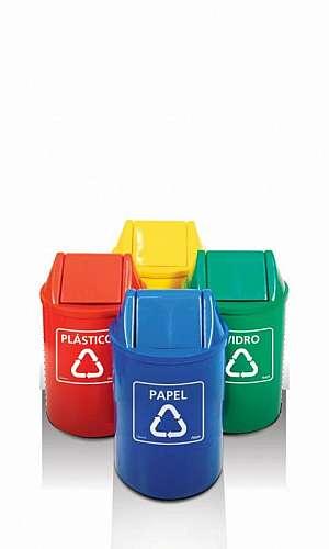 Cesto de Lixo Reciclável Cores