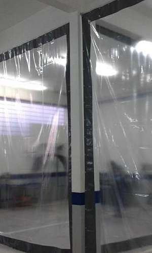 Lona plástica transparente