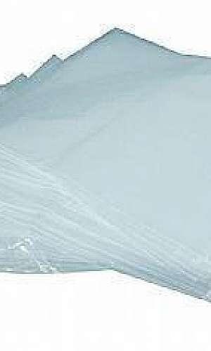 Saco de plástico transparente