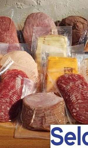 Saco plástico a vácuo para alimentos