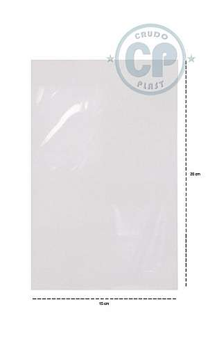 saco plastico cristal
