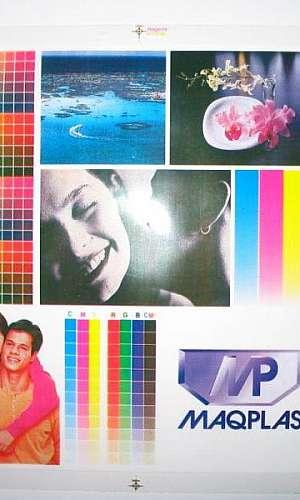 Saco plástico impresso 6 cores