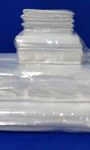 Saco plástico PEBD liso transparente
