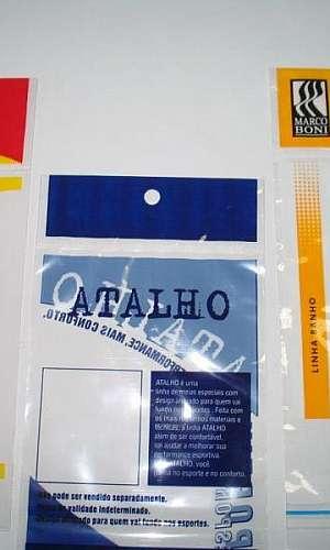 Valor saco plástico impresso 6 cores